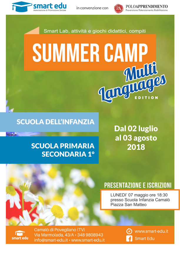 MINI SUMMER CAMP 2018 (8-13 anni)