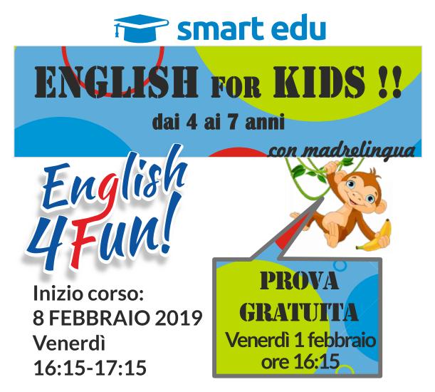 ENGLISH 4 FUN KIDS 4-7 anni